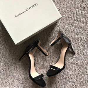 NEW Banana Republic Two Strap Heels with Studs - 8